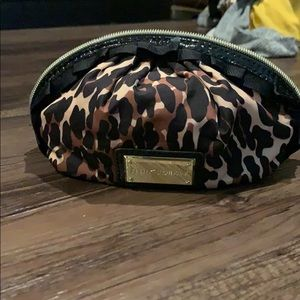 Betsey Johnson leopard makeup bag